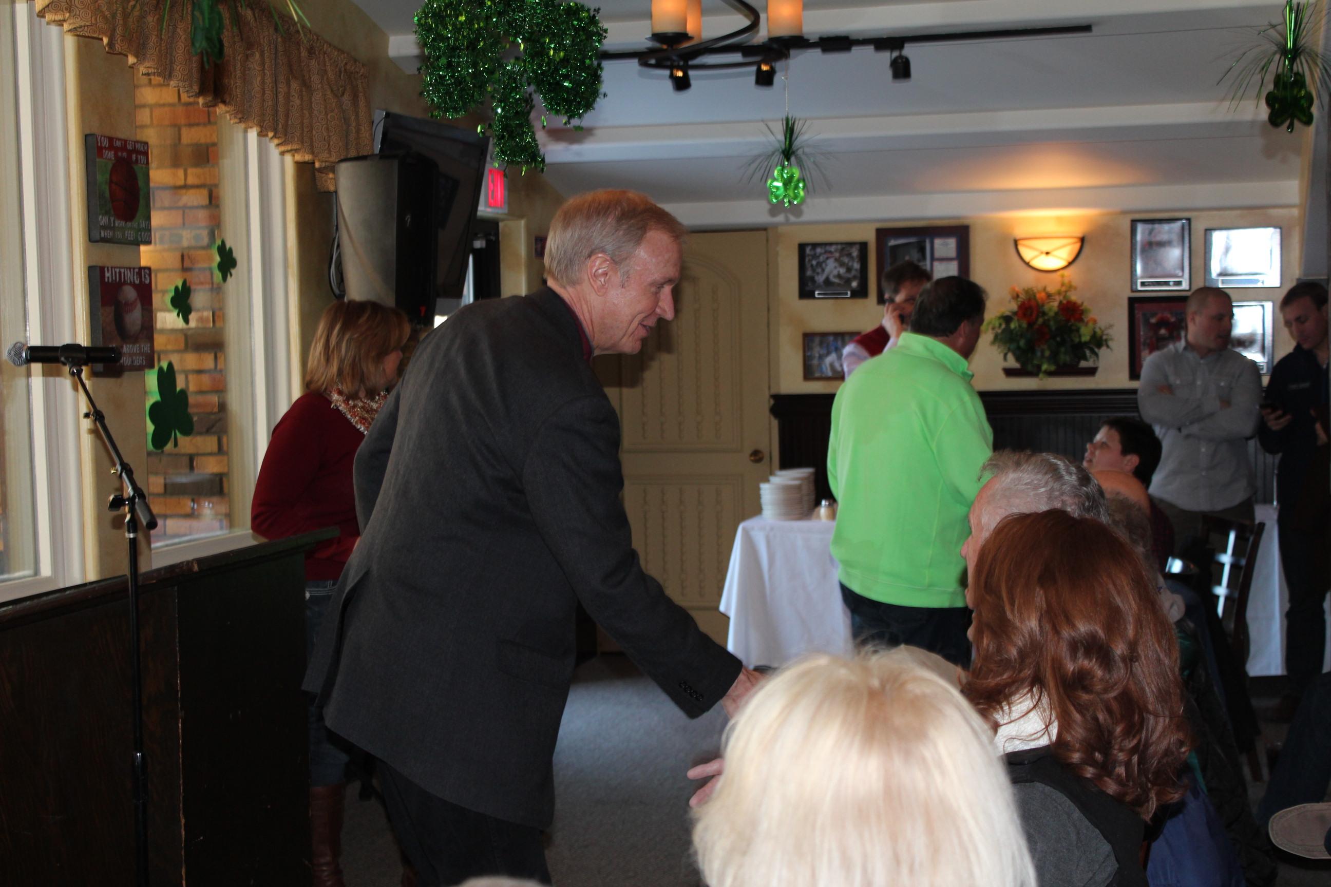 Illinois Governor Bruce Rauner prior to winning the GOP Primary.