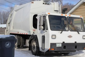 One of the new garbage trucks purchased by Lyons