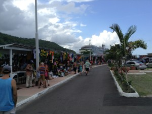 Port Ocho Rios tourist stands