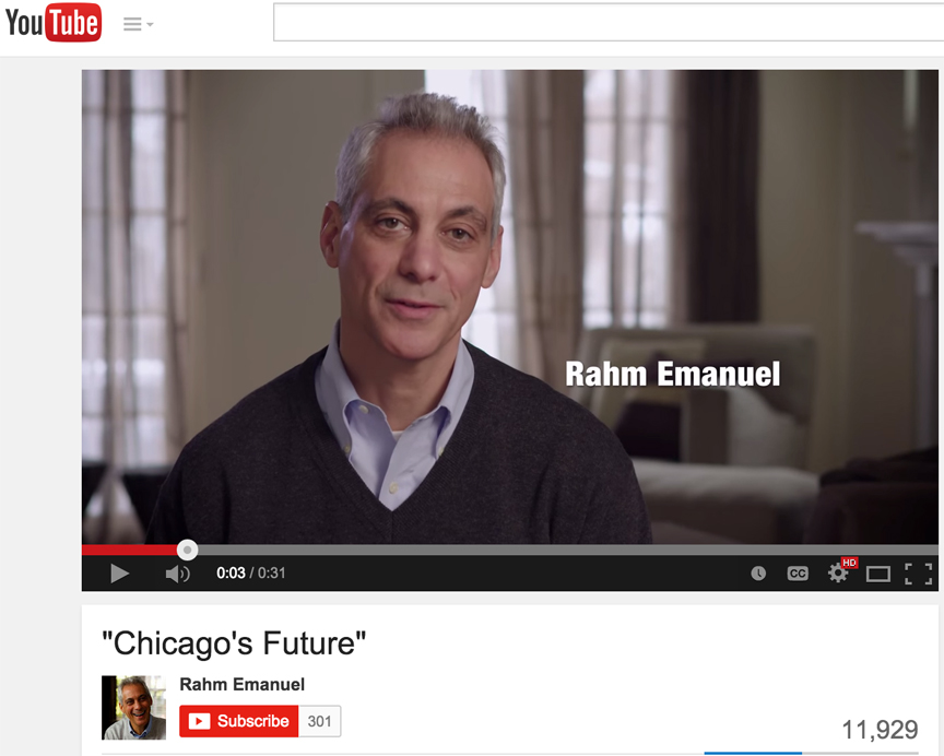 Chicago Mayor Rahm Emanuel's new Ad misses his real problem