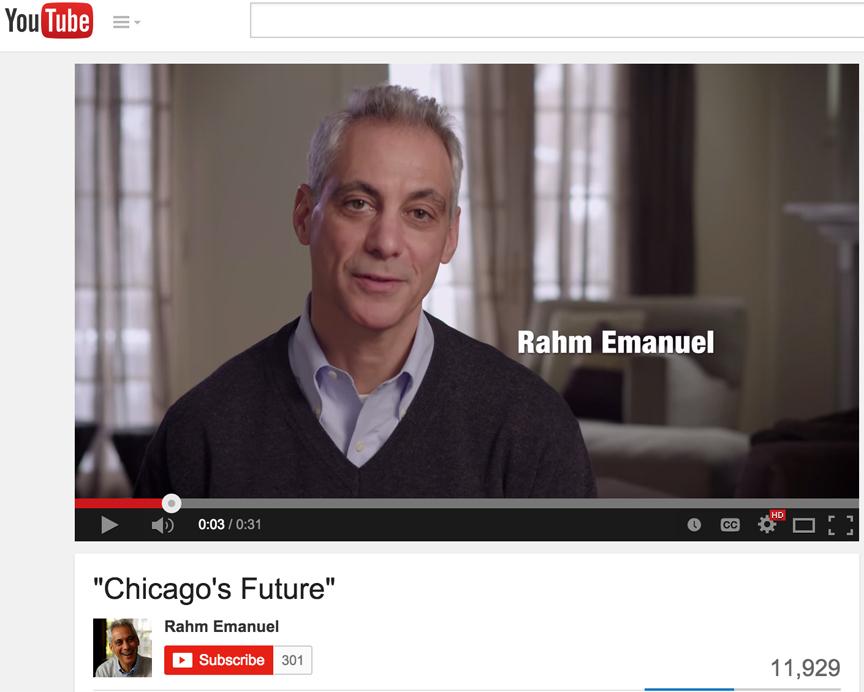 "Rahm Emanuel campaign Ad ""Worst enemy"""