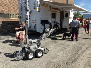The Cook County Sheriff's Office demonstrated their robotic bomb equipment at the Orland Fire Protection DIstrict's annual Open House Sept. 26, 2015