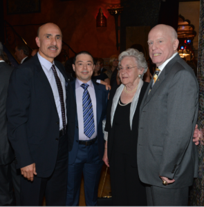 Tony Rezxko with friend Mr. Youseph Khalaf who flew in from the Middle East for the dinner, and Chicago political icon Ed Kelly (far right) and Mrs. Kelly. Photo Copyright Tony Rezko Family 2016. All Rights Reserved.