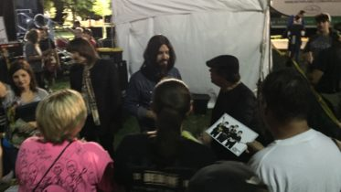 After show meet-and-greet with fans by Beatles Tribute band American English performing at Taste of Orland Park 2016