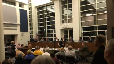 About 100 Residents of Orland Park filled the board meeting room Monday Oct. 17, 2016 to protest increasing Mayor Dan McLaughlin's salary 375 percent from $40,000 to $150,000