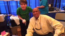 Aaron Hanania at the 2014 Cubs Convention with Cubs Pitcher Fergie Jenkins. Photo courtesy Ray Hanania