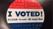 I Voted Sticker. Photo Courtesy of Ray Hanania